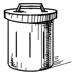 Outdoor trash bin icon vector