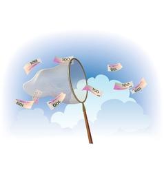 Cash catching vector
