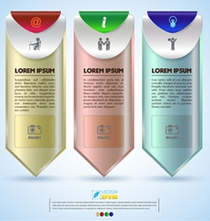Banner options with icons vector