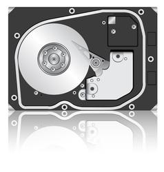 Computer hard drive vector