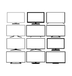 Tv web icons set vector