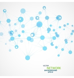 Network connection and dna eps 10 vector