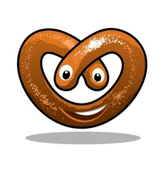 Fun happy curly pretzel vector