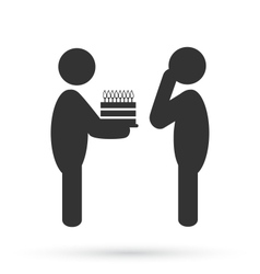 Flat birthday icon isolated on white vector