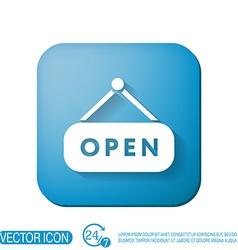 Open label sign vector