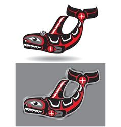Orca - killer whale - in native art style vector