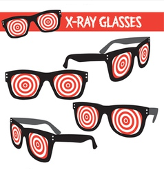 Graphic set of xray glasses vector