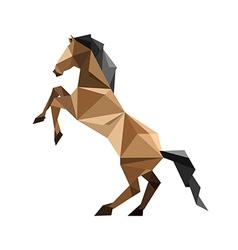 Origami horse vector