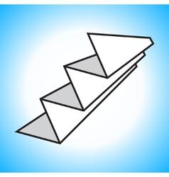 Paper accordion sign vector
