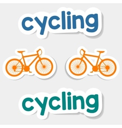 Logo cycling on a light background vector