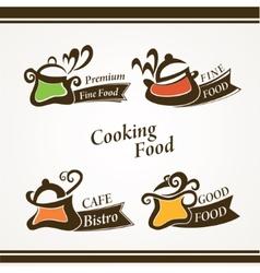 Cooking symbols vector