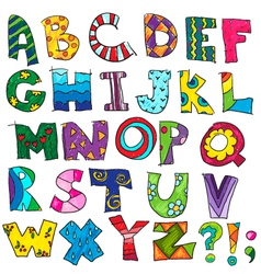 Abc kids funny alphabet vector