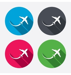Airplane sign icon travel trip symbol vector