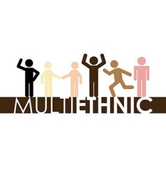 Multiethnic community vector