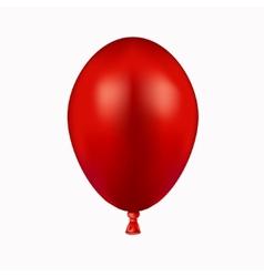 Modern red balloon on white vector