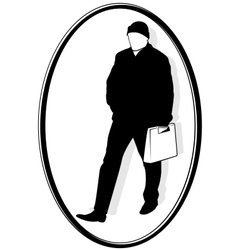 Man with the bag vector