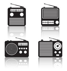 Radio receivers icons vector