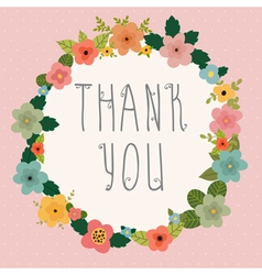 Thank you postcard vector