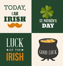 Vecor set of st patricks day and design elements vector