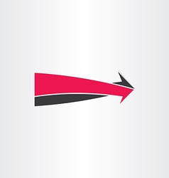 3d arrow go forward icon vector
