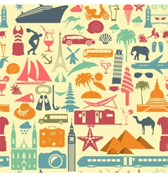 Travel background vacations beach resort seamless vector