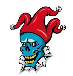 Cartoon clown skull vector