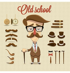 Retro gentleman character vector