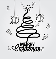 Christmas doodle hand drawn vector