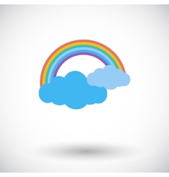 Rainbow single icon vector