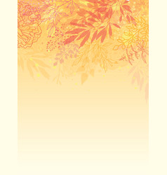 Glowing fall plants vertical background vector
