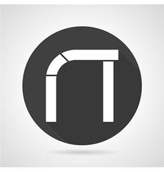 Asymmetric arch black round icon vector