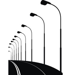 Night urban street bridge vector