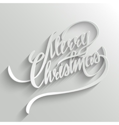 Merry christmas lettering greeting card vector