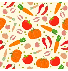 Seamless pattern with vegetables on a white vector