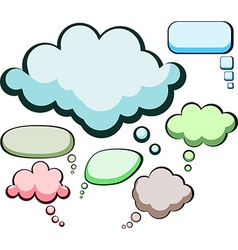 Speech color clouds vector