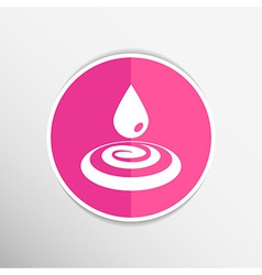 Drop cream white droplet paint water rain sweat vector