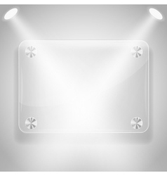 Glass framework with spotlights vector