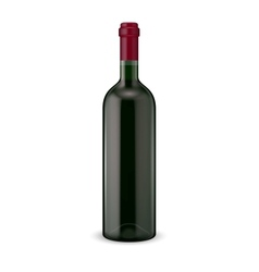 Red wine bottle vector