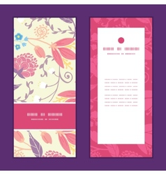 Fresh field flowers and leaves vertical vector