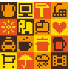 Set of pixel objects vector