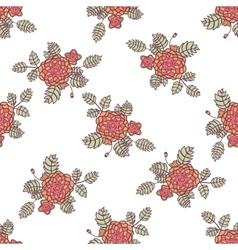 Seamless pattern with abstract roses vector