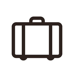 Suitcase - travel icon vector
