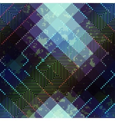 Grunge abstract matrix pattern on blurred vector