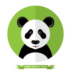Flat style panda bear avatar icon design element vector