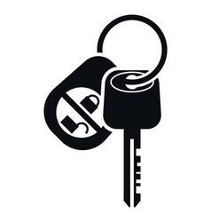 Car alarm and key icon vector