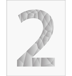 Number two on a white background vector