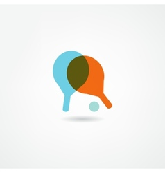 Ping pong icon vector