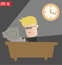 Hacker hacking on computer - - eps10 vector