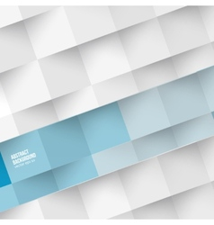 White squares abstract background vector