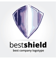 Abstract shield logotype concept isolated on white vector
